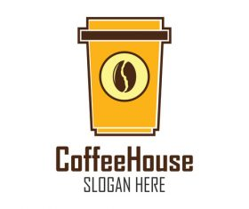 Instant coffee logo vector