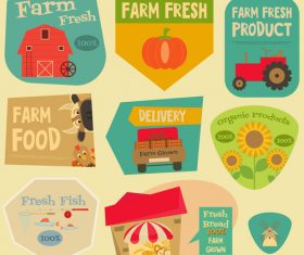 Introducing the farm house label vector