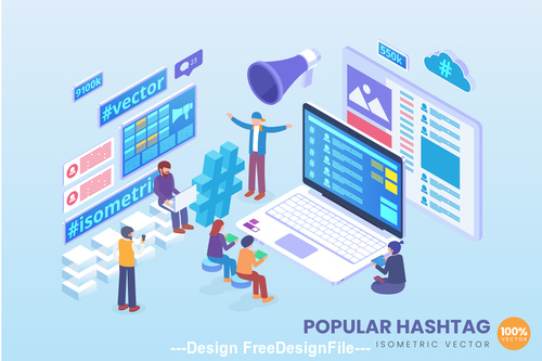 Isometric Vector Concept Pack 05