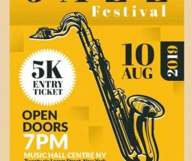 Jazz Poster and flyer vector template