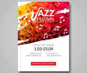 Jazz festival flyer Vector