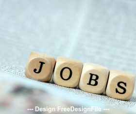 Jobs with wood stock photo