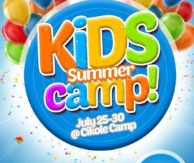 Kids Summer Camp Roll-up Banner PSD Template