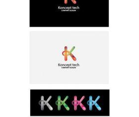 Koncept tech logo vector