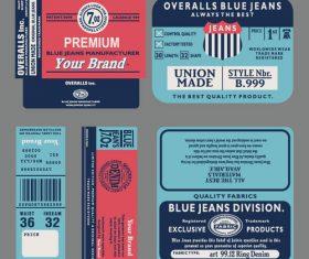 Label Design Elements Vector