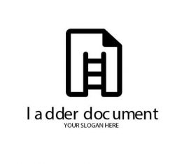 Ladder document logo vector