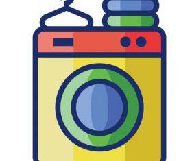 Laundry cartoon vector