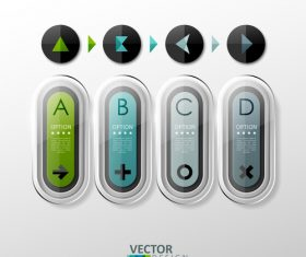 Letter button design vector
