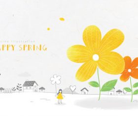 Lovely Spring Illustration vector
