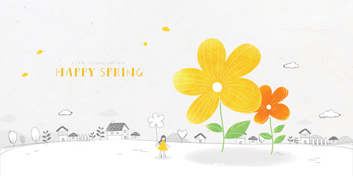 Lovely Spring Illustration vector