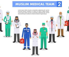 Male and female doctor illustration vector