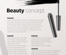 Mascara and brochure vector