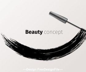 Mascara beauty concept vector