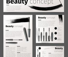 Mascara brochure vector
