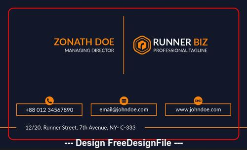 Minimal business card psd template