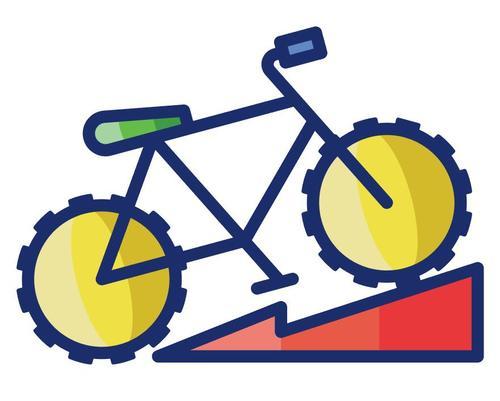 Mountain biking cartoon vector