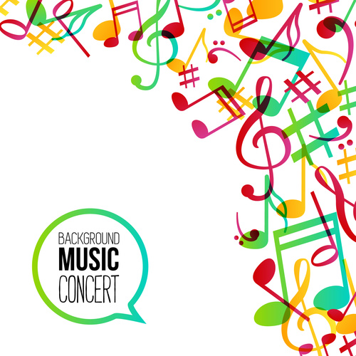 Musical notes background flyer Vector