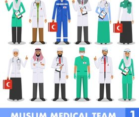 Muslim doctor illustration cartoon vector