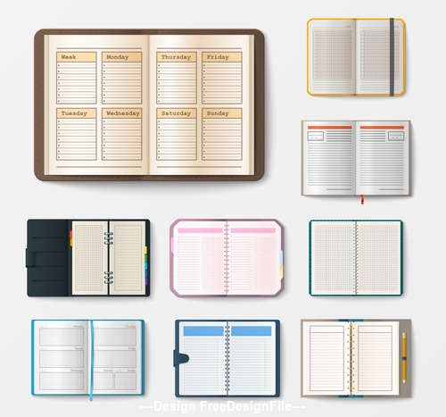 Notebook With Pages Diary Office Sheet Template Booklet