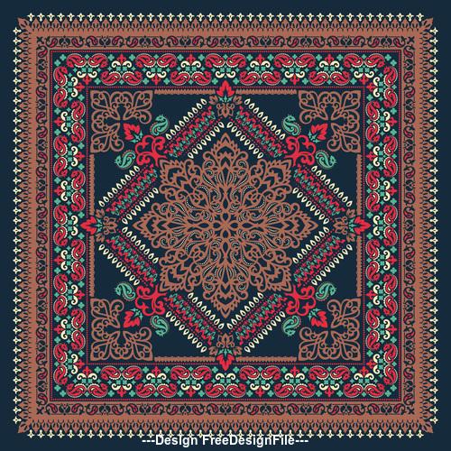 Ornament seamless beautiful pattern vector