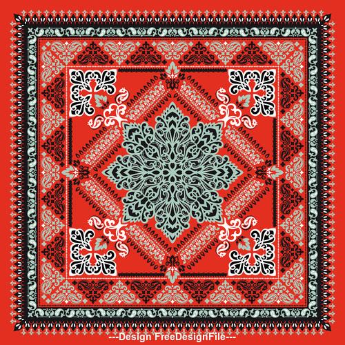 Ornament seamless paisley bandana print pattern vector
