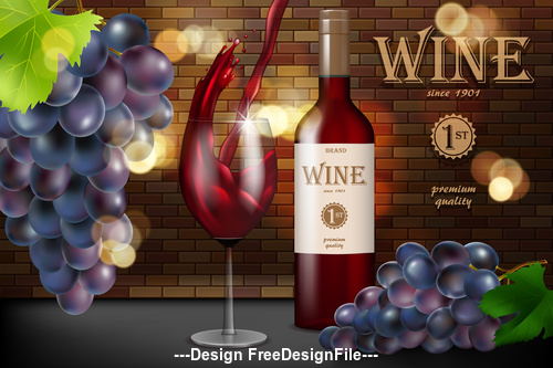Package design alcohol drink for poster vector