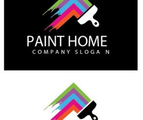 Paint home logo vector