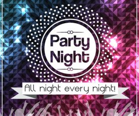 Party night poster vector