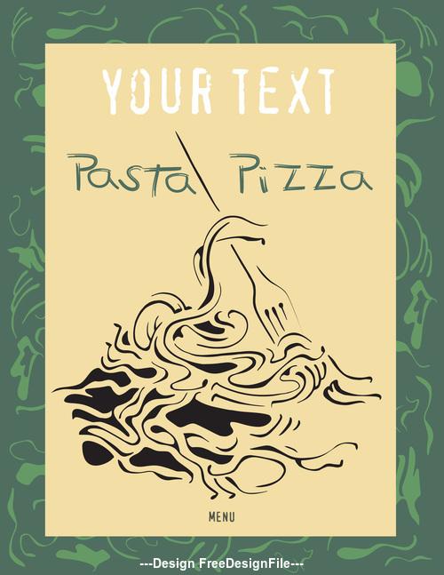 Pasta pizza flyer vector