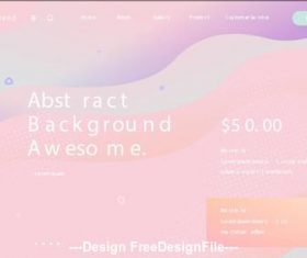 Pink abstract background cover vector