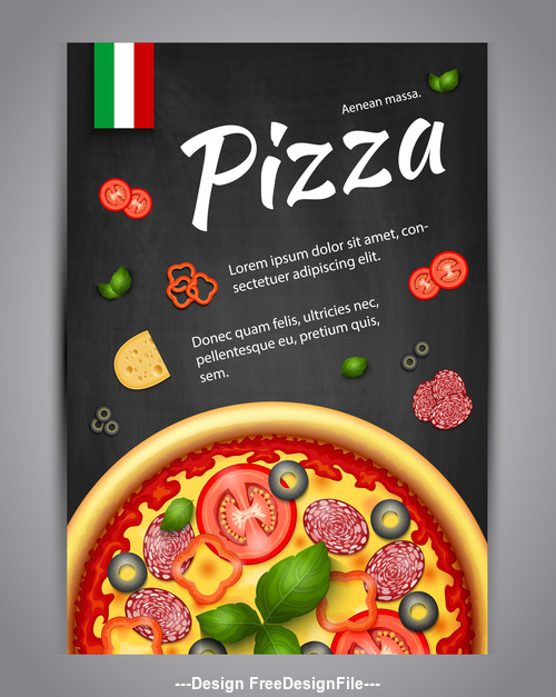 Pizza cover vector