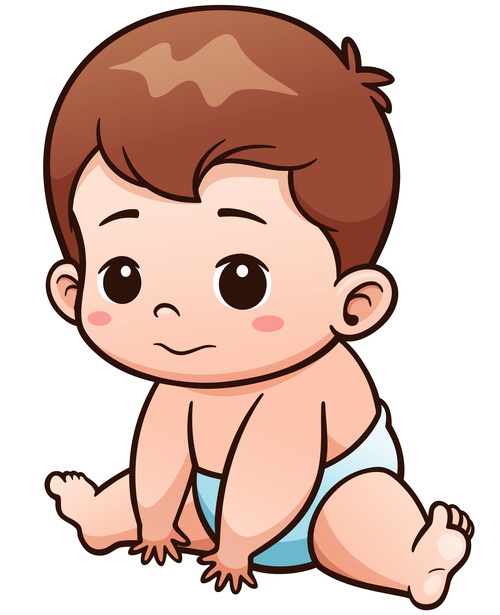 Playing baby vector illustration vector