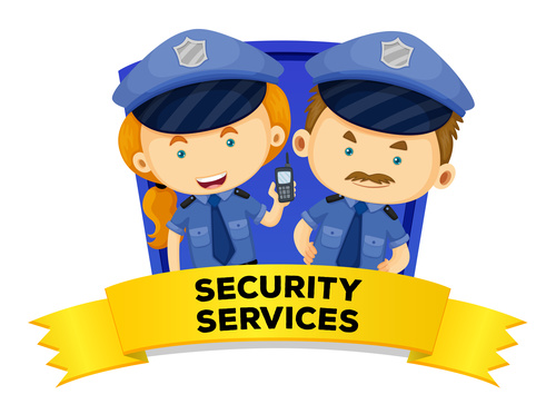 Police cartoon illustration vector