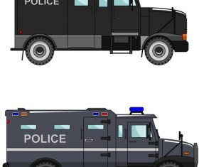 Police explosion-proof car illustration vector