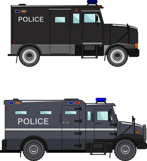 Police explosion proof car illustration vector