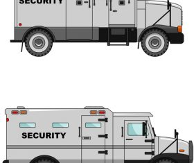 Police security car illustration vector