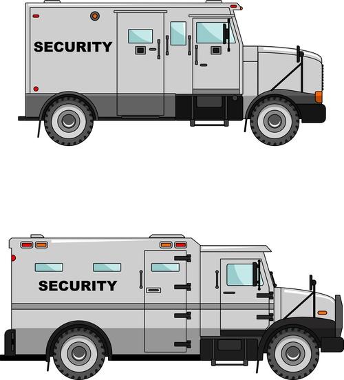 Police security car illustration vector