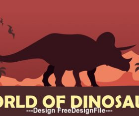 Prehistoric world Stegosaurus vector