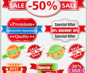 Premium quality sales discount label vector