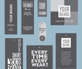 Product barcode label vector