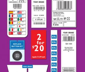 Product label design elements vector