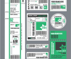 Product label elements vector