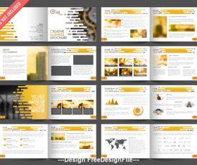 Promotion brochure vector