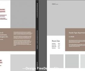 Property flyer template vector