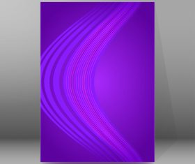 Purple background brochure cover vector