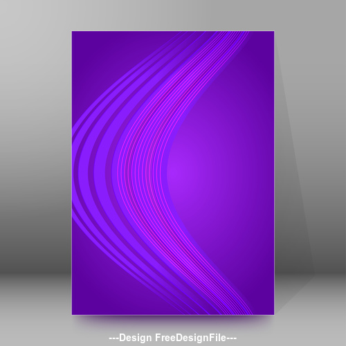 Purple background brochure cover vector