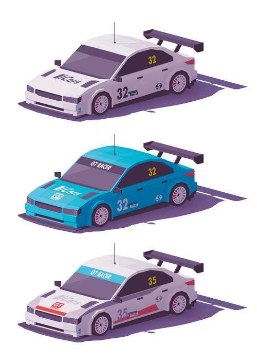 Racing 3d isometric vector