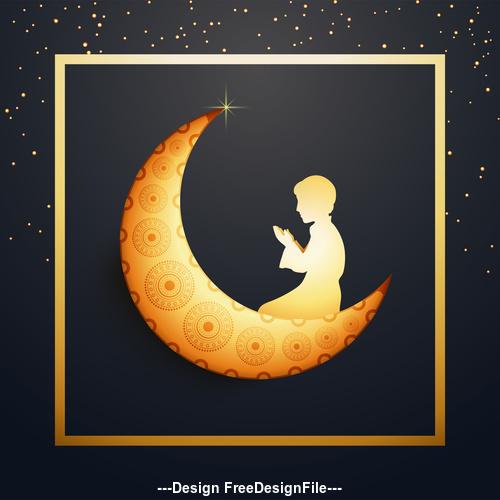 Ramadan festival prayer background vector