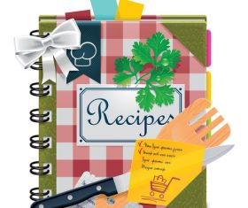 Recipe illustration vector