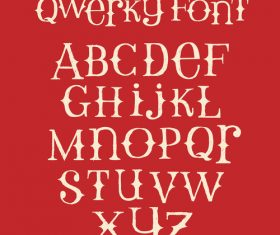Red background and alphabet Vector